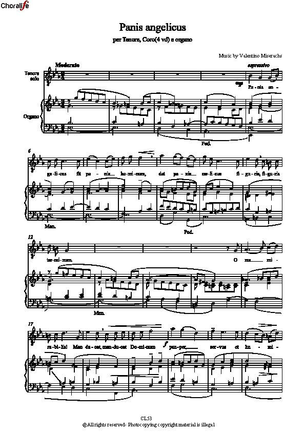 Preview Panis angelicus - Partitura Completa