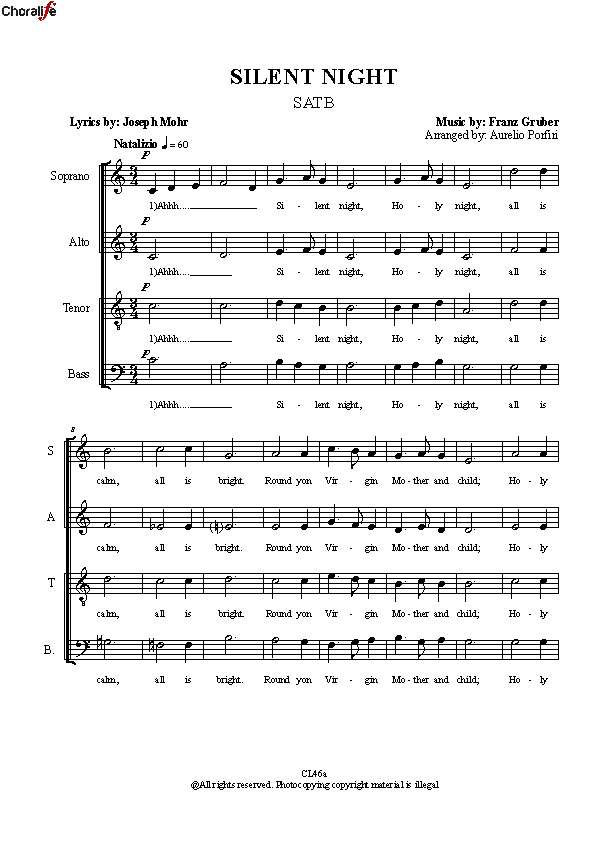 Preview SILENT NIGHT SATB_Porfiri