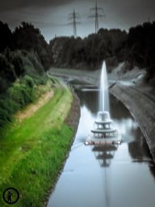 Emscherkunst 2016 Waste Water Fountain Recklinghausen