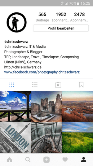 Mein Instagram Profil
