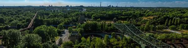 Freihand-Panorama, erstellt auf dem Hochofen 5