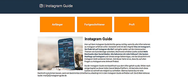 Instagram Guide - Tutorial zu der Social Media Plattform Instagram