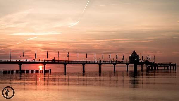 Sonnenuntergang in Zingst - Gegenlichtaufnahme
