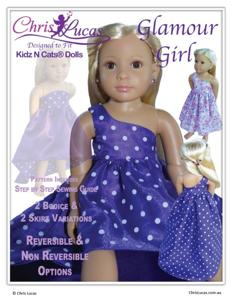 Glamour Girl Doll Sewing Patterns now available in 3 sizes