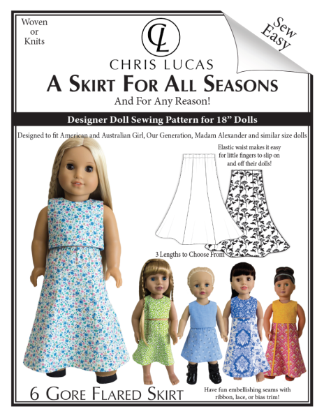 A Skirt for All Seasons – Doll Sewing Pattern – Out Now!