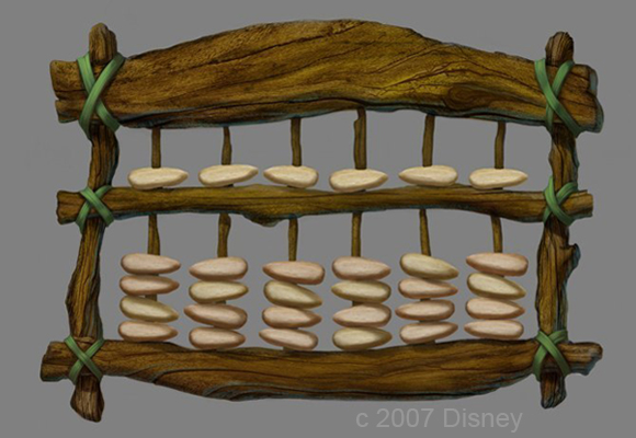 Concept Art for Fairy Mary's Abacus from Tinker Bell