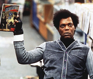 "Samuel L. Jackson as Mr. Glass. Scene from ""Unbreakable."""