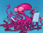 An Octopus Artist