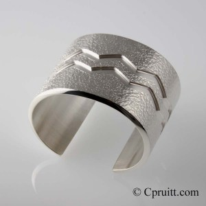 Milled Bracelet with Crater texture