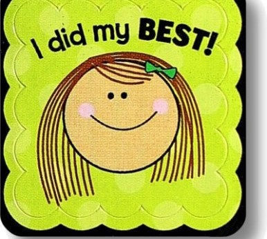 """Smiling Girl """"I did my BEST!"""""""