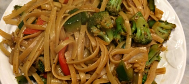 Vegetarian Kung Pao Noodle Bowls