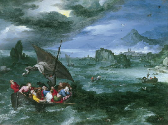 Jan Bruegel the Elder, Christ in the Storm On the Sea of Galilee