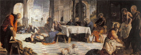 Tintoretto, Christ Washing the Feet of His Disciples, 1549