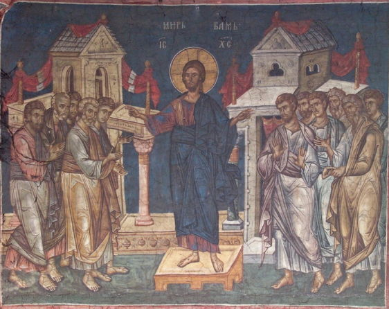 Decani Monastery, Christ Appears to Disciples