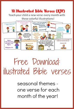 Encouragement Illustrated Bible Verses Illustrated Bible Verses Kids Christian Homeschool Family Bible Verse About Family Friends Heaven Bible Verse About Family