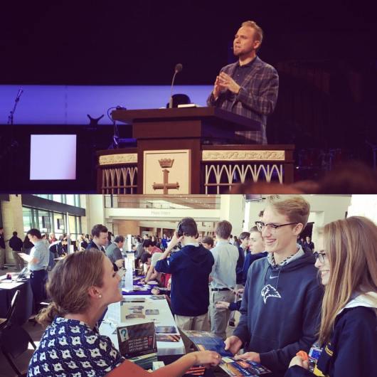 Jeremiah Johnston at Prestonwood Christian Academy with Houston Baptist University