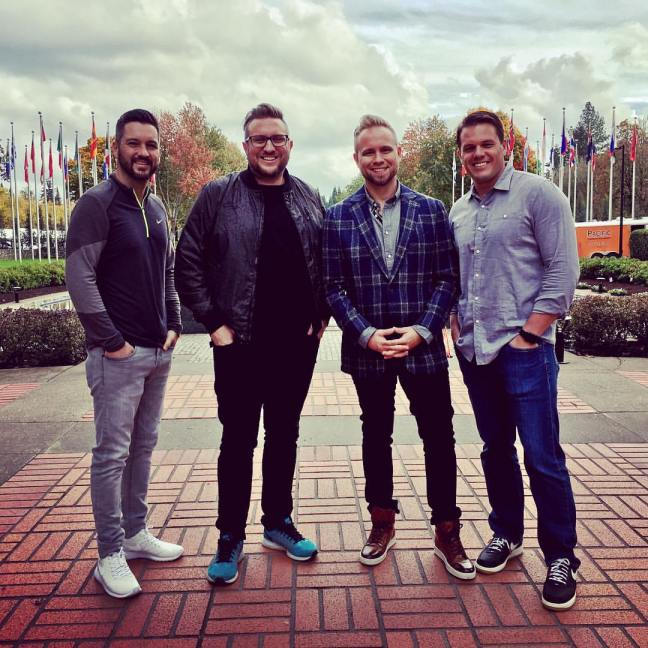 Jeremiah Johnston, Pastor Luke Reid, and MOTB at Nike Headquarters