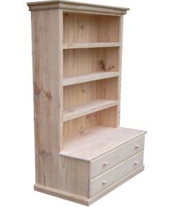 6x3 Deluxe Bookcase 2 Drawers
