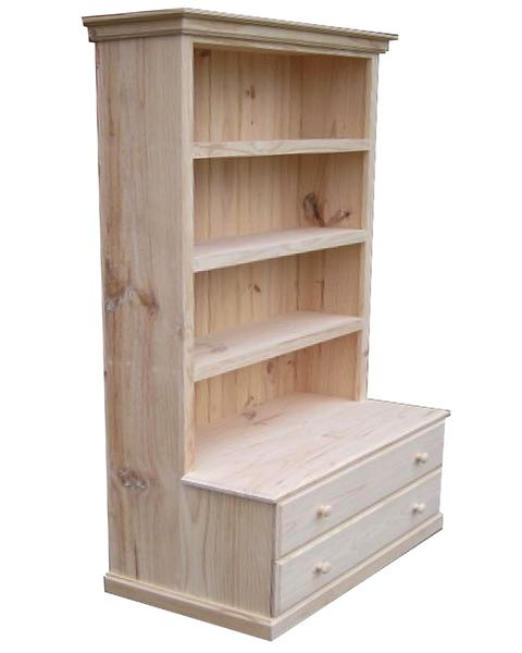 6×3 Deluxe Bookcase 2 Drawers
