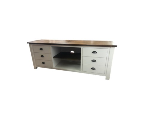 Brookmont 6 drawer two tone tv unit