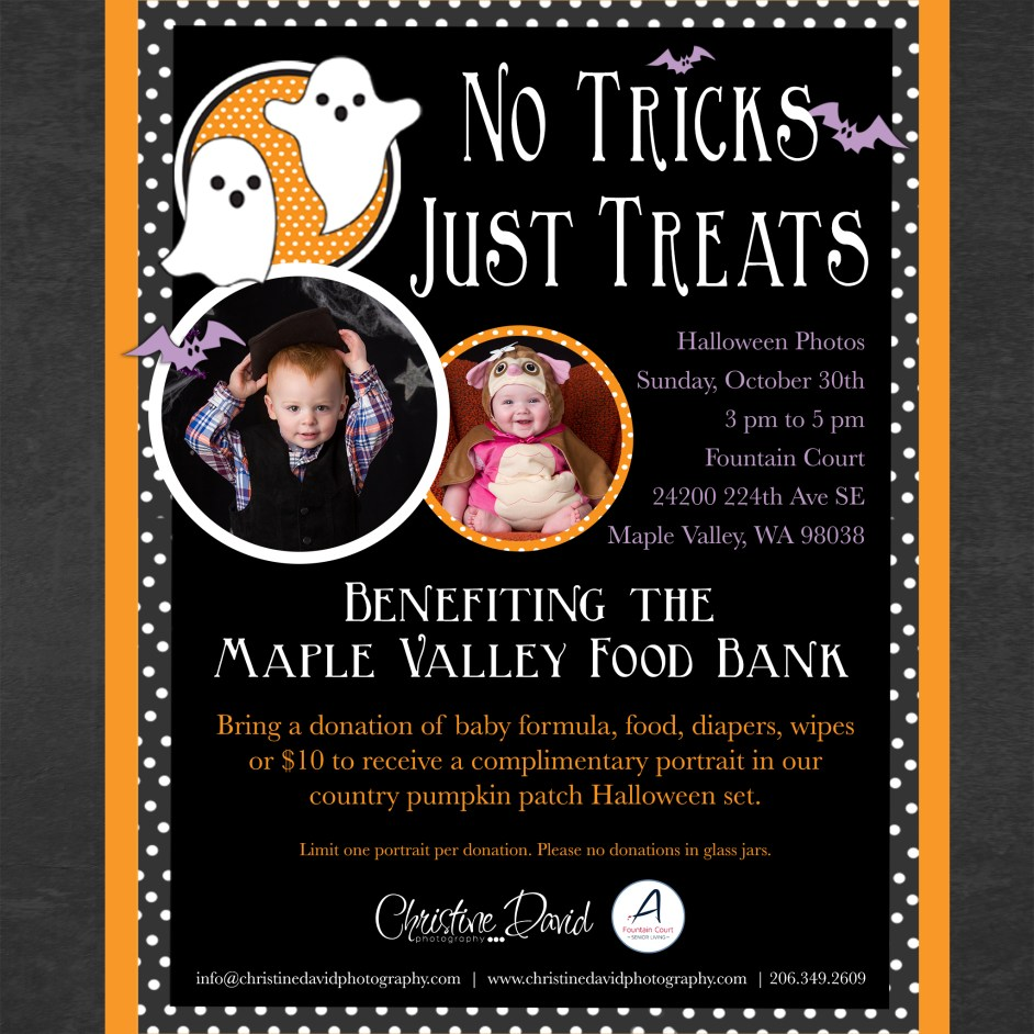 Christine David Photography - Halloween Charity Event - Benefiting the Maple Valley Food Bank