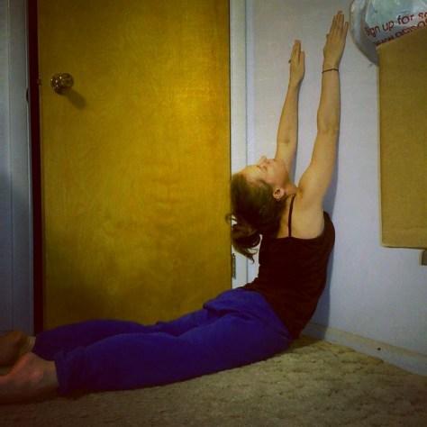 Yoga wall stretch