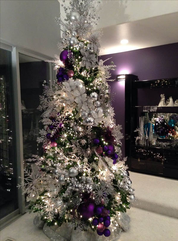Top Purple Christmas Trees Decorations   Christmas Celebration   All     The snowflakes complement well with the other ornaments  The designer tie  the purple christmas balls together and hang in the Christmas tree  making  it look