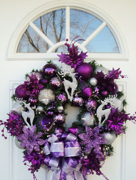 35 Breathtaking Purple Christmas Decorations Ideas   All About Christmas purple christmas decorations 6