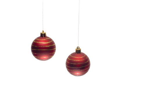 Medium Of Red Christmas Ornaments