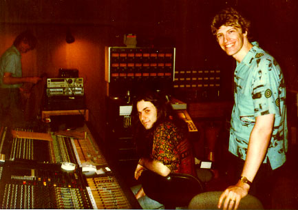 House of Music in West Orange, NJ during the mixing of the DOORWAY CD. Engineer Mike Weisinger is at the Neves Flying Fader mixing board. —Photo by Lynn Yost