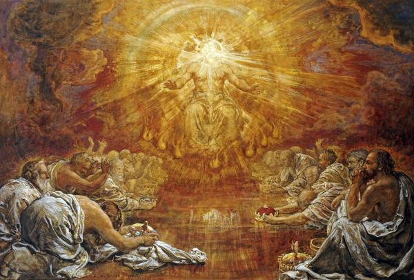 John Taken to Heaven to See 24 Elders (Rev 4:1-6a)