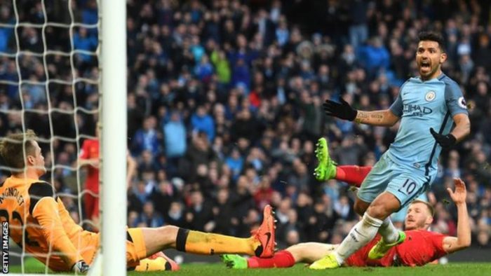 Sergio Aguero has scored in all five of his Premier League games against Liverpool at the Etihad
