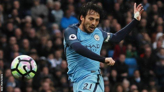 David Silva covered the most distance of any City player (12km) and won possession back seven times for his side against Liverpool