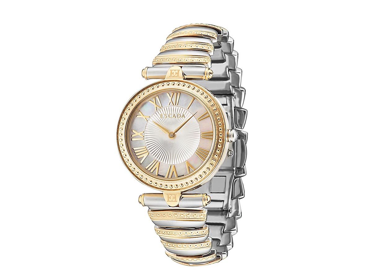 Escada watch with steel flex bracelet