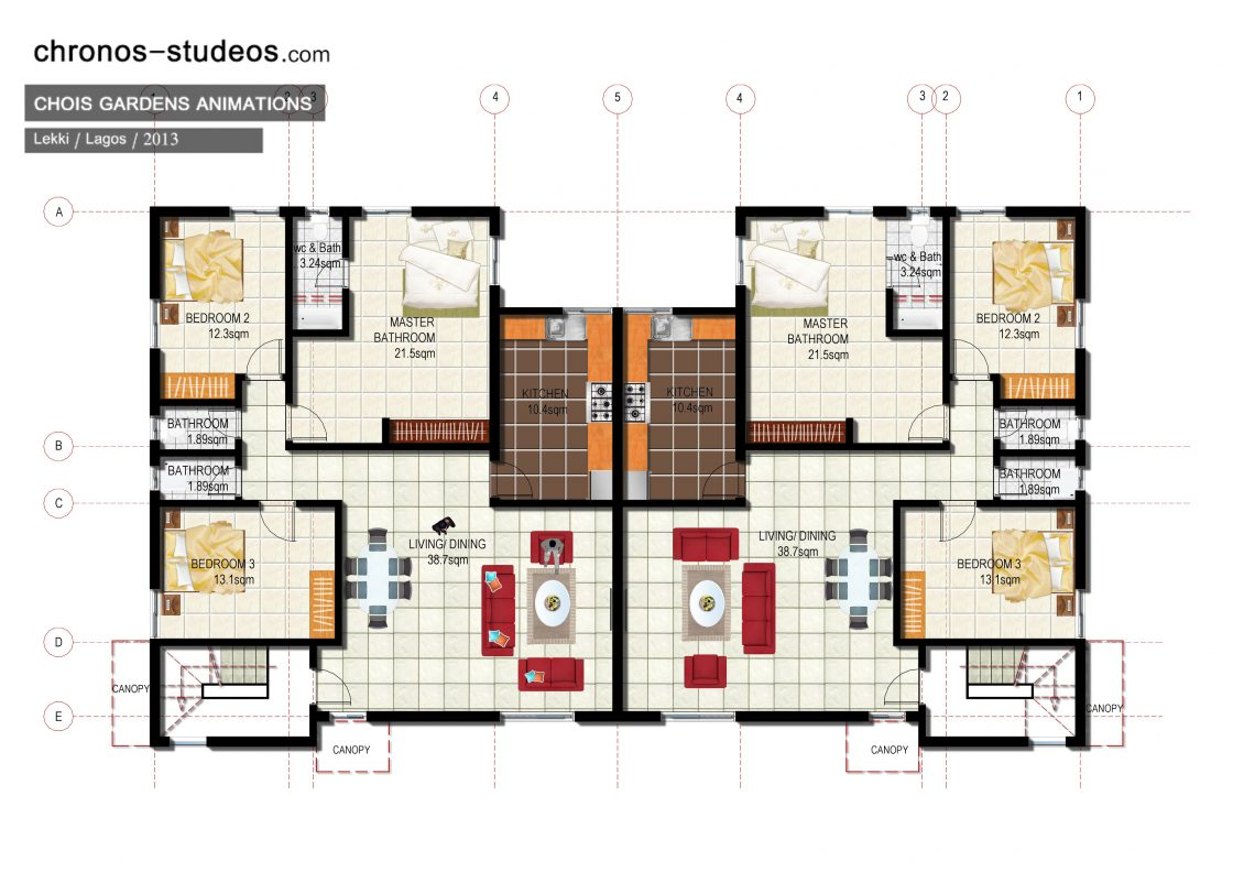 13 awesome chronos studeos projects from 2013 chronos for Floor plans presentation