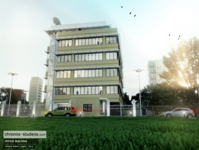 Chronos Studeos - Making the 3D rendering of 'Rainy Day in Lagos Nigeria