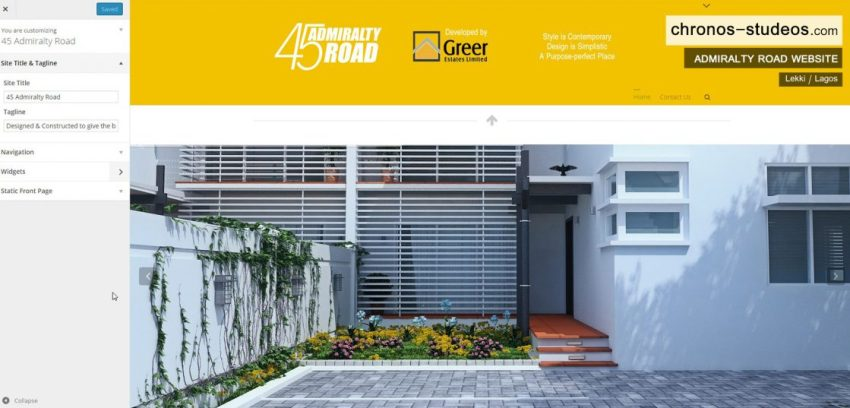 Admiralty Road Website Design and Branding by Chronos Studeos
