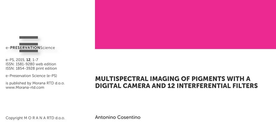 multispectral imaging for art