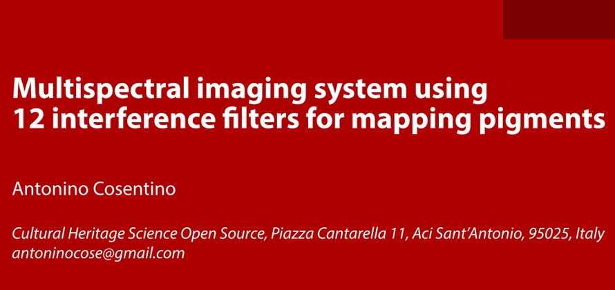 Multispectral imaging system using 12 interference filters for mapping pigments 2015