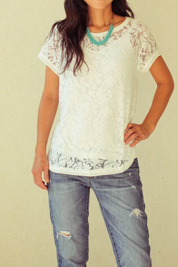 iSanctuary necklace & lace shirt-2