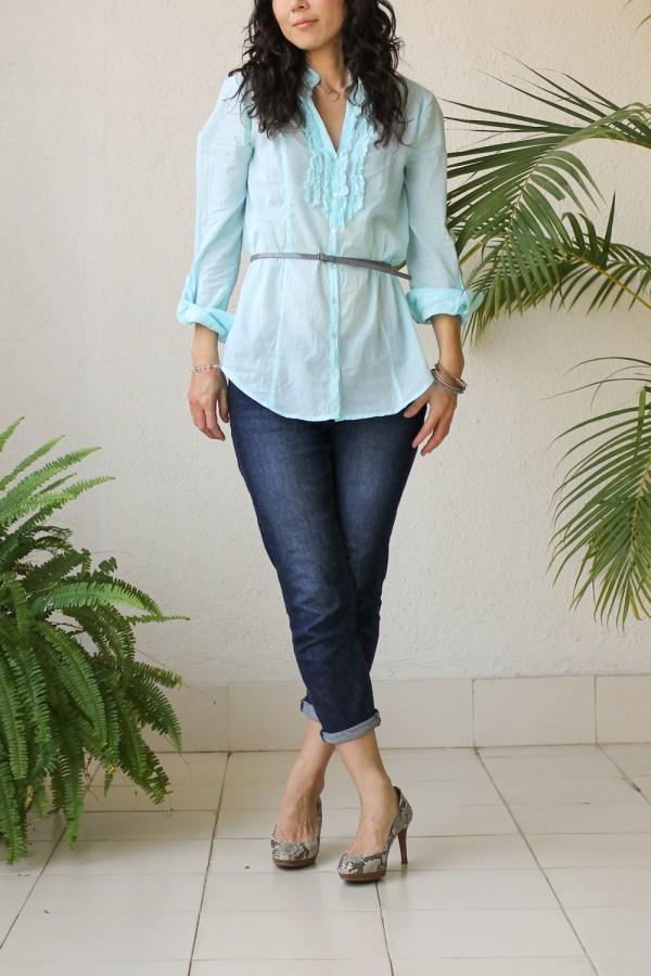 Cottonworld Blue Shirt-5