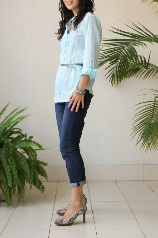 Cottonworld Blue Shirt-6
