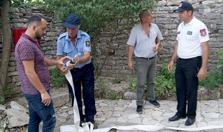 20 Testing system w fire dept at Babaramo House in Gjirokastra_low