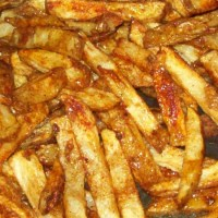 Side Dish Recipe:  Spicy Deep-Fried Potatoes