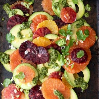 Orange Avocado Salad Recipe with Cilantro Lime Dressing