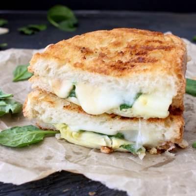 Spinach Artichoke Grilled Cheese Panini Recipe