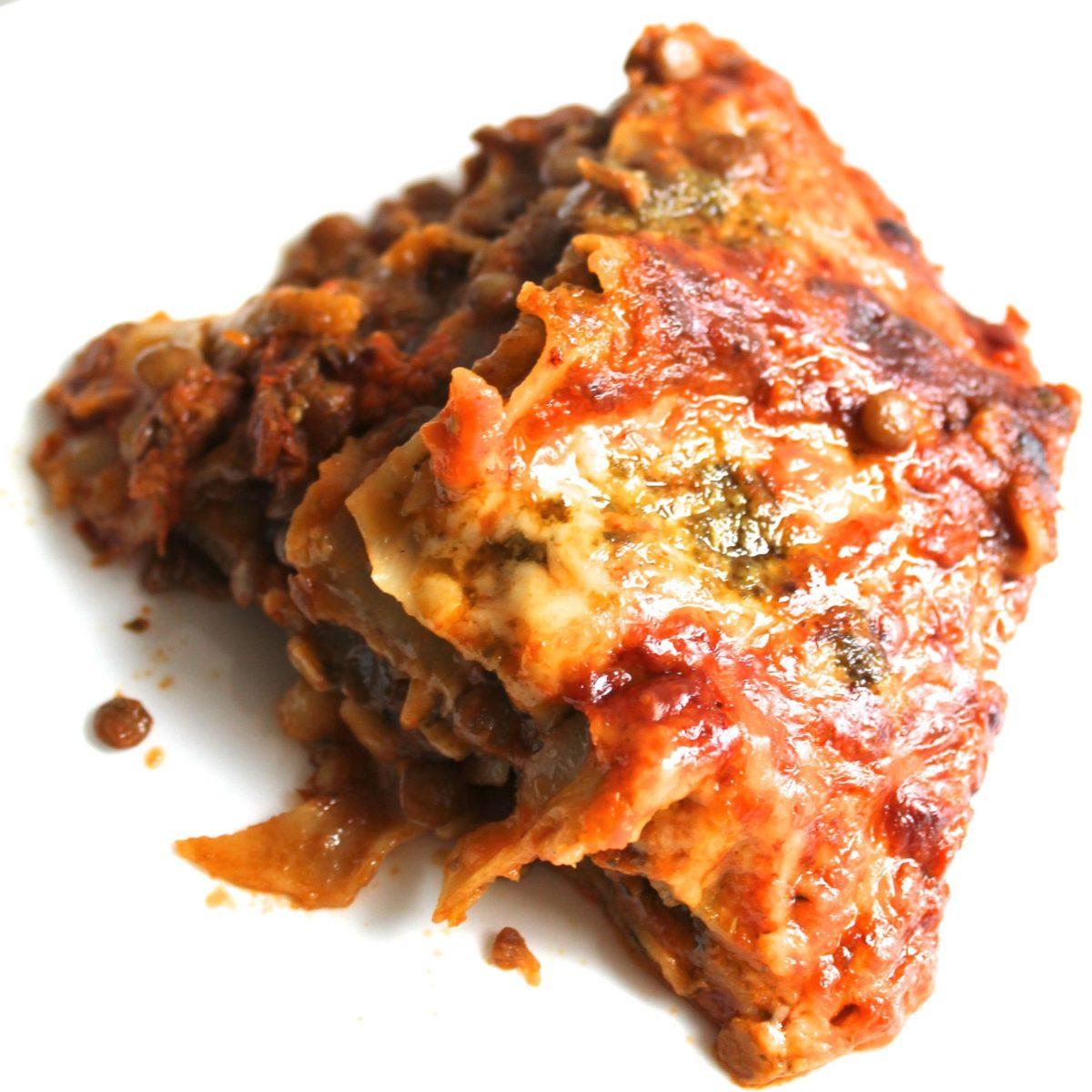 5 ingredient easy lentil lasagne