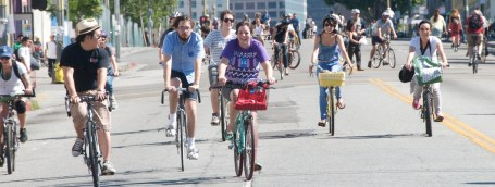 CicLAvia temporarily removes cars from L.A. streets - and the streets fill up with smiles!