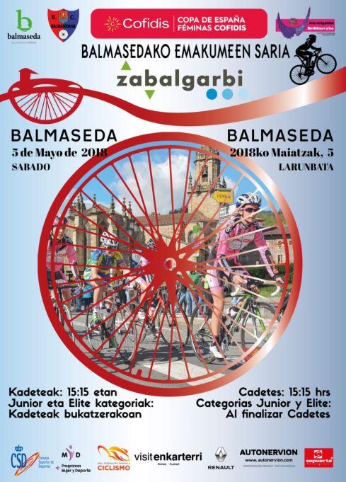 Prueba ciclista femenina, copa de España Cofidis en Balmaseda