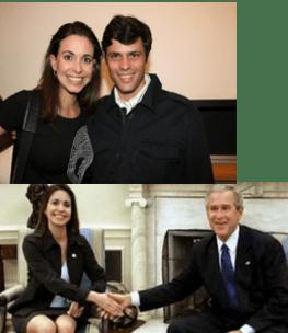 Personajes Golpe de Estado 11 Abril 2002 - Maria Corina y Leopoldo Lopez